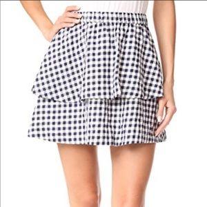 Madewell Gingham Tier Mini Skirt Size S